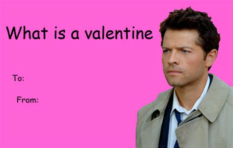 Funny Valentines Day Memes Tumblr - supernatural valentines day card tumblr