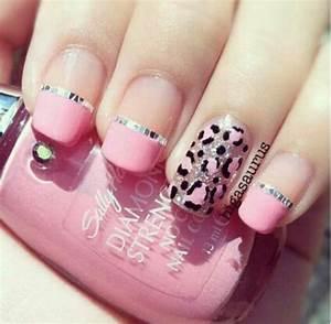 Leopard print and pink nail art | Nails!!!! | Pinterest ...