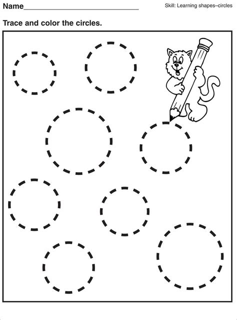 Tracing Pages For Preschool  Kids Worksheets Printable  Preschool, Worksheets, Tracing Worksheets