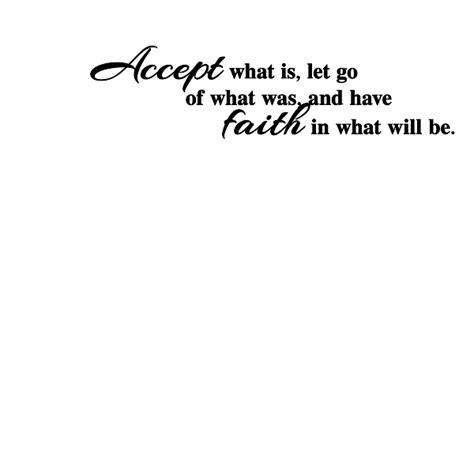accept faith wall art decal