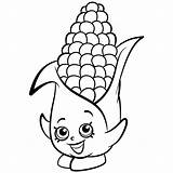 Corn Coloring Pages Shopkins Cob Season Printable Corny Stalks Drawing Print Exclusive Shopkin Sheets Coloriage Baby Colouring Cute Info Easy sketch template