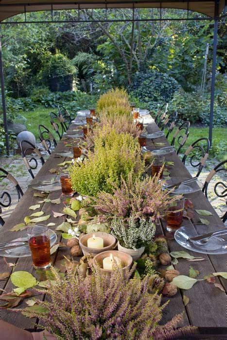 Weihnachtsdeko Auf Dem Gartentisch by Tischdekoration Mit Nat 252 Rlichen Materialien Wie Heide In