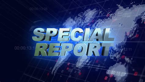 special report  broadcast animation stock footage video