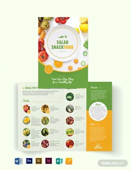 healthy food brochures design templates