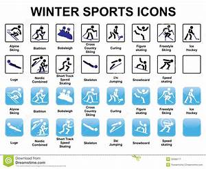 Winter sports icons stock image. Image of black, cross ...