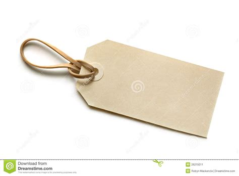 Blank Tag With Elastic Band Stock Image - Image: 26215011