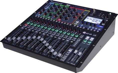 mixer console soundcraft si compact 16 audio mixer console digital