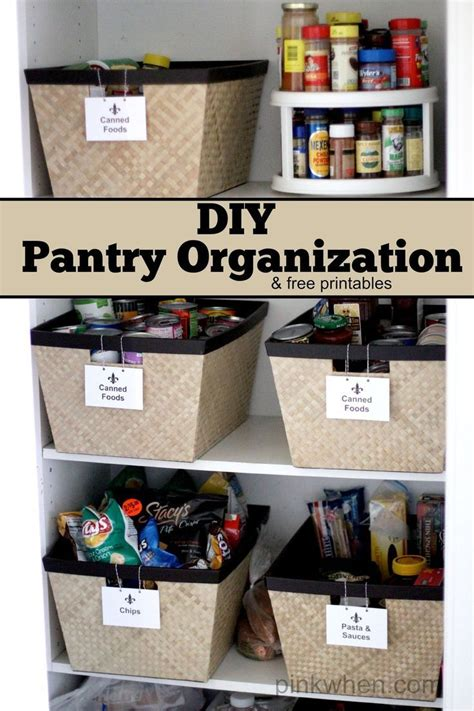 kitchen pantry organizers diy pantry organization project free printable labels 2417