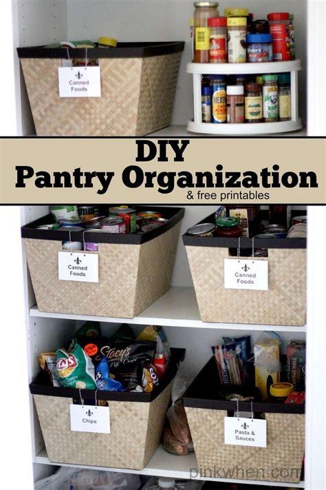 diy kitchen pantry organization project   printable