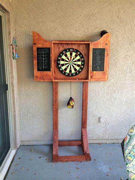 dartboard cabinet  pallets diy