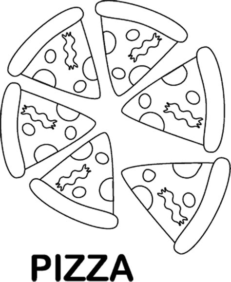 pizza coloring pages getcoloringpagescom