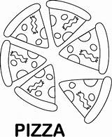 Pizza Coloring Pages Printable Food Foods Sheet Clipart Favorite Preschool Slice Whole Emoji Worksheets Pyramid Colouring Preschoolers Sheets Pie Clip sketch template