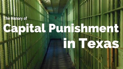 history  capital punishment  texas