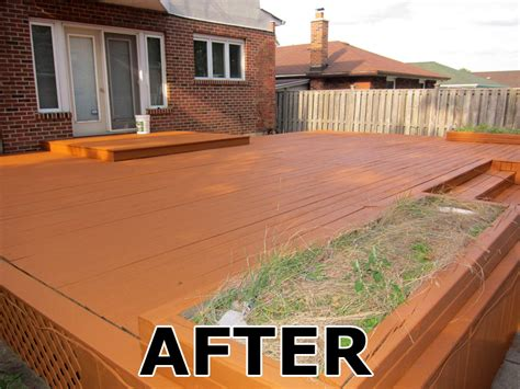 Restaining Deck With Solid Stain by Home Painters Toronto 187 Toronto Deck Staining And Fence