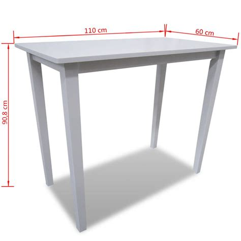 white wooden table l white wooden bar table vidaxl co uk