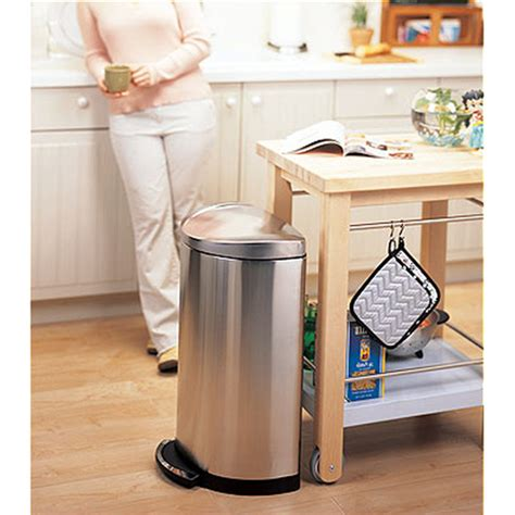 Simplehuman In Cabinet Trash Can Dimensions by Trash Cans Stainless Steel Deluxe Semiround Step Can By