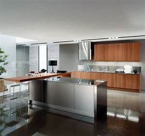 15 contemporary kitchen designs with stainless steel for Contemporary kitchen ideas with stainless steel kitchen island