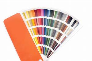 Image of Fanned color swatches or cards Freebie Photography