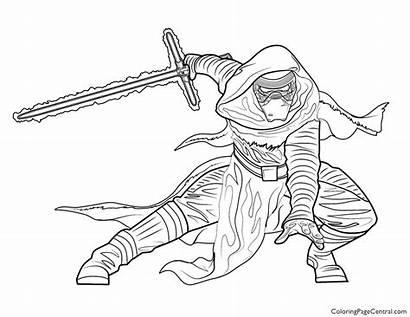Ren Kylo Wars Coloring Coloriage Sheets Anakin