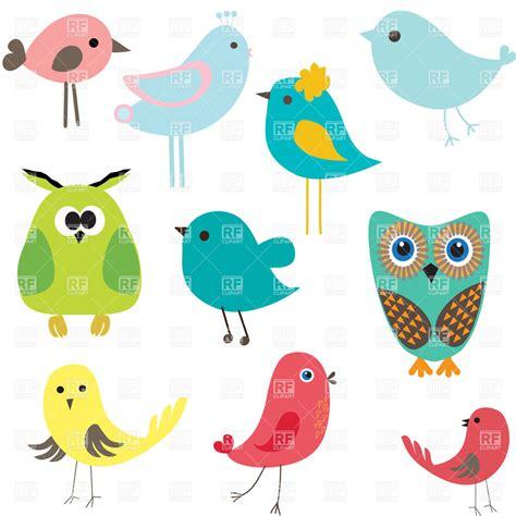 stylized cute cartoon birds vector image  plants