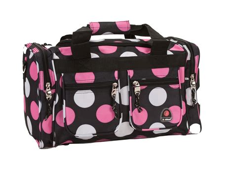 rockland fox luggage 19inchtote bag multi pink dot home luggage travel gear carry on