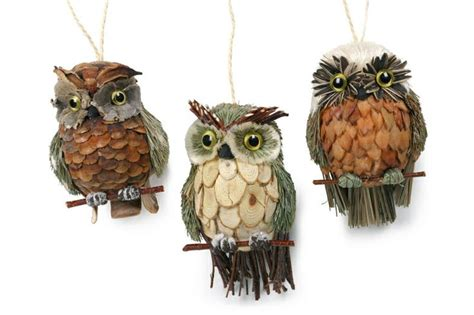 pine cone owl ornaments pine cone woodsy owl idea for tattoo pinecone pinterest