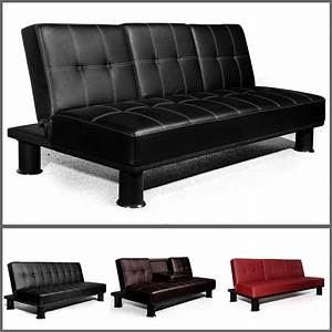 veelar modern faux leather 3 seater sofa bed sofa beds in With bed and sofa in one