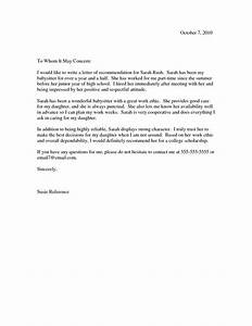 recommendation letter samples letter of recommendation With referance letter template