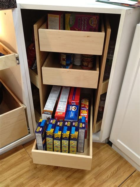lazy susan glide   pull  drawers
