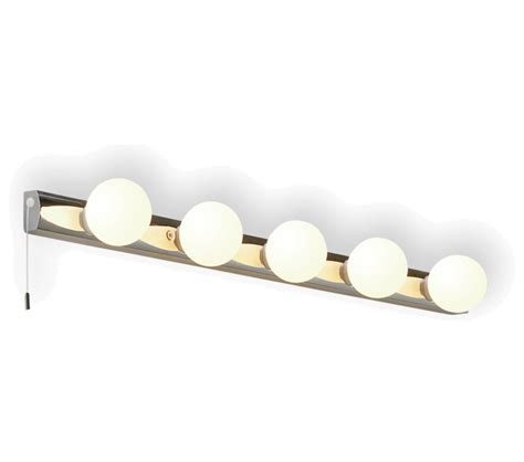 astro cabaret five 5 light bathroom wall light polished