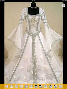 Silver medieval wedding dress victorian gothic larp m l for Wiccan wedding dress
