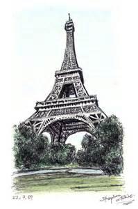 Paris Eiffel Tower Drawing
