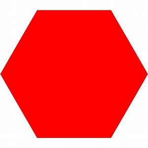 Red Hexagon Icon