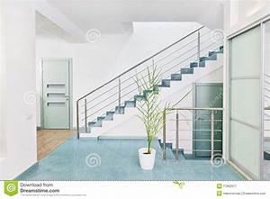 Escalier De Maison Interieur : une partie d 39 int rieur moderne de hall avec l 39 escalier en ~ Zukunftsfamilie.com Idées de Décoration