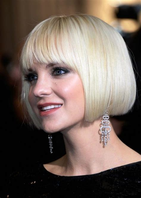 Short Blunt White Bob Hairstyle   Behairstyles.com
