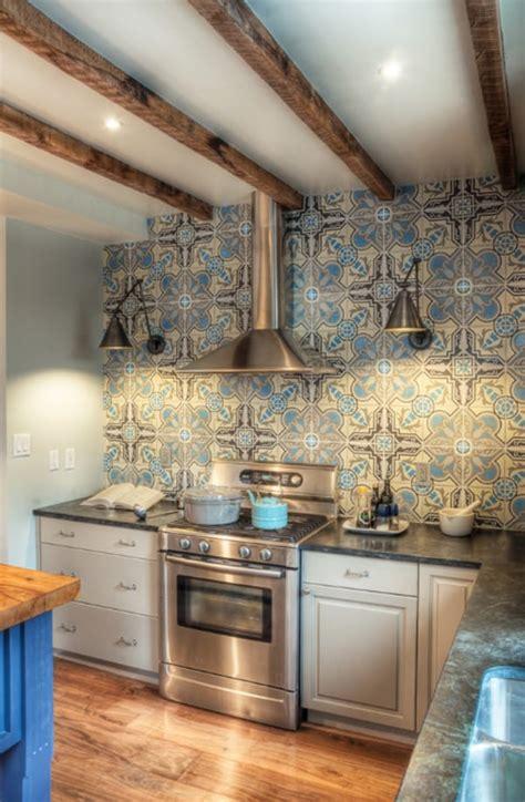 create  decorative kitchen backsplash  cement tiles