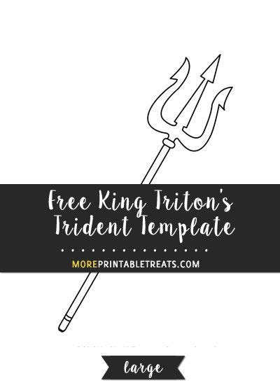 king tritons trident template large templates