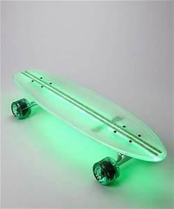 Green Lighted Skateboard from Flexdex Such a great idea