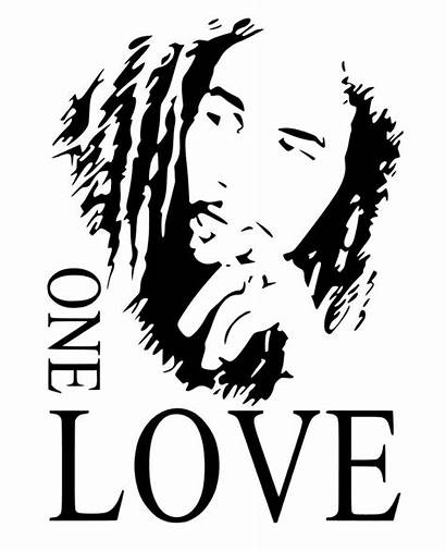 Marley Bob Sticker Stencil Outline Wall Vinyl