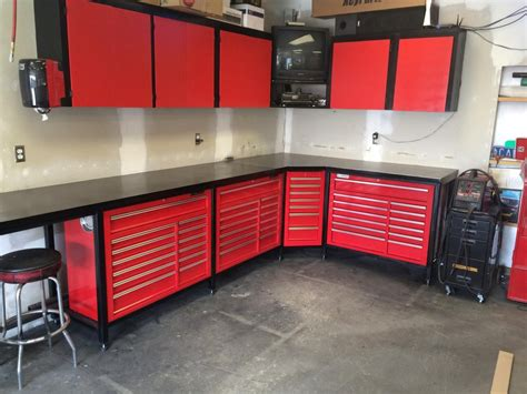 steevo inspired harbor freight toolbox workbench garage