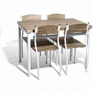 Table cuisine pas cher for Deco cuisine avec soldes chaises