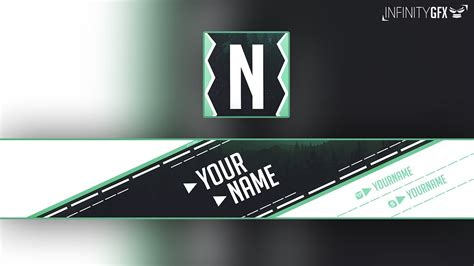 simple banner avatar youtube template