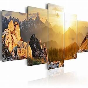 Tableau 5 Parties : impression sur toile 200x100 cm grand format xxl 5 parties image sur toile images ~ Teatrodelosmanantiales.com Idées de Décoration