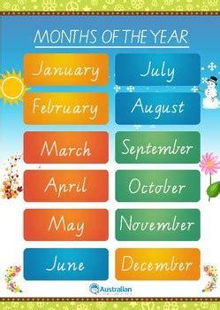months  seasons   year australian  poster tpt