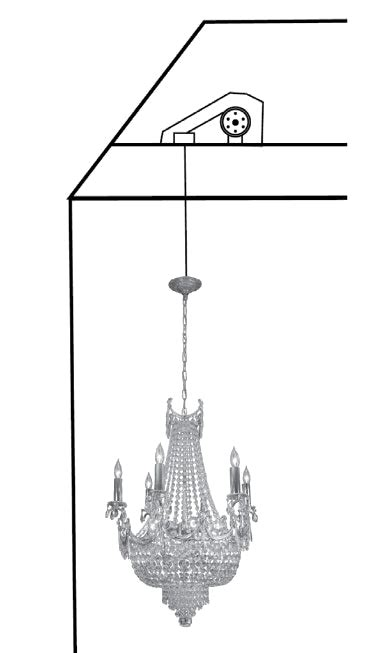 700 lbs 310kg motorized light crane chandelier