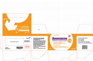Androderm (testosterone transdermal system) CIII NDC 52544-076-60 ... Testosterone Transdermal