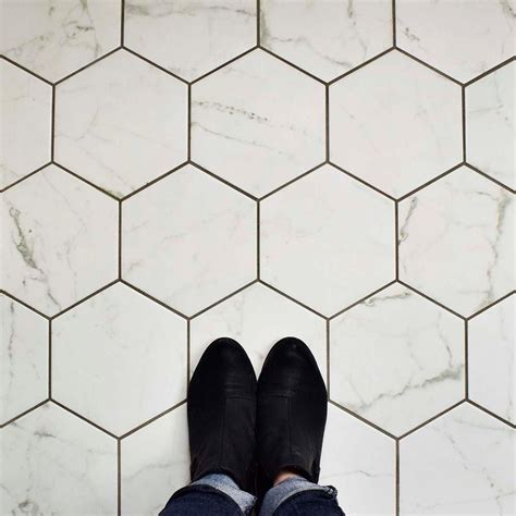 merola tile classico carrara hexagon 7 in x 8 in