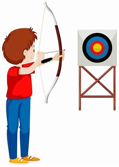 Arrow Target Archery Clipart Shooting Bow Vector