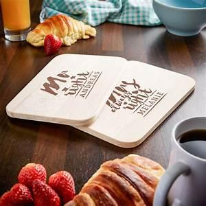 Frühstücksbrettchen Mit Gravur : fr hst cksbrettchen set mit gravur mr and mrs always right ~ Buech-reservation.com Haus und Dekorationen