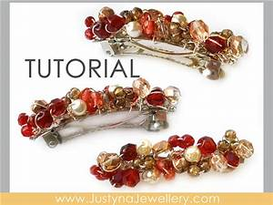 Hair Clip Tutorial French Barrette Tutorial Beading Pattern